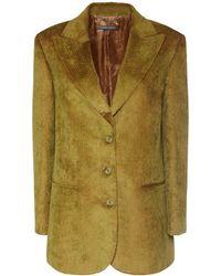 Alberta Ferretti Klassische Jacke Aus Kord - Grün