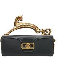 Lanvin Cat Top Handle Leather Box Bag - Black