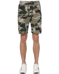 Balmain Short En Jersey De Coton - Vert
