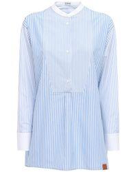 Loewe Рубашка-туника Из Хлопка - Синий