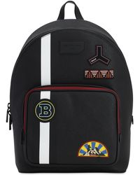 Bally - Rubberized Backpack W/ Pvc Patches - Lyst