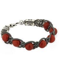 Emanuele Bicocchi Beaded Red Jasper Bracelet - Multicolour