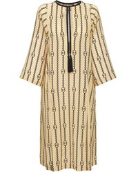 Gucci - Gg Stripe Chains シルクドレス - Lyst
