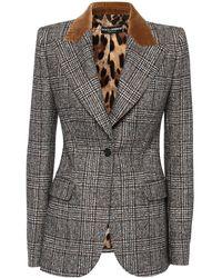 Dolce & Gabbana ウールブレンドジャケット - グレー