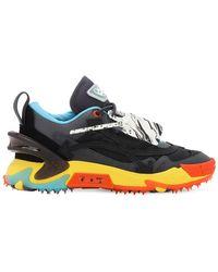 Off-White c/o Virgil Abloh Odsy-2000 Hohe Sneakers Aus Baumwollcanvas - Blau