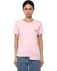 Loewe - コットンジャージー アシンメトリーtシャツ - Lyst