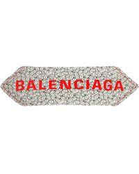 Balenciaga - Logo & Dollars Printed Silk Twill Scarf - Lyst
