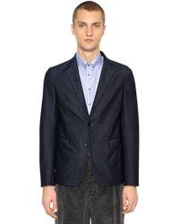 Giorgio Armani - Single Breasted Cotton Blend Jacket - Lyst