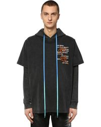 Off-White c/o Virgil Abloh Hooded Double Cotton Jersey T-shirt - Schwarz