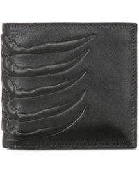 Alexander McQueen Klassische Brieftasche Aus Leder - Schwarz