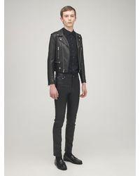 Saint Laurent Байкерская Куртка Из Кожи - Черный