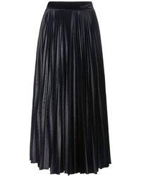 Valentino Юбка Со Складками Из Велюра - Черный