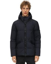 Stone Island Hooded Nylon Puffer Jacket - Blue