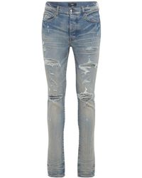 "Amiri Jeans ""thrasher Plus"" De Denim De Algodón 15cm - Azul"