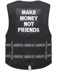 MAKE MONEY NOT FRIENDS - Жилет С Логотипом И Ремнями - Lyst