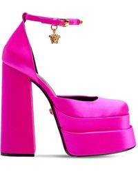 Versace Туфли Из Атласа 155mm - Розовый