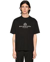 Balenciaga - ロゴプリントコットンジャージーtシャツ - Lyst