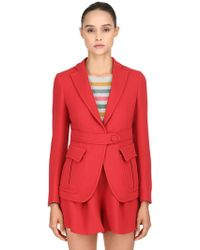 L'Autre Chose - Double Wool Crepe Blazer - Lyst