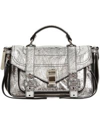 Proenza Schouler PS1 Zip Tiny Crossbody Bag Lambskin Silver - Mettallic