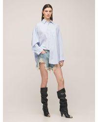 R13 オーバーサイズコットンシャツ - ブルー