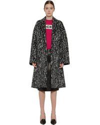 Rochas Belted Wool Blend Coat - Black