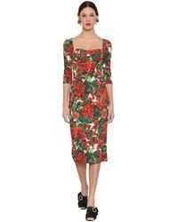 Dolce & Gabbana Vestito In Cady Stretch - Rosso