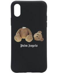 Palm Angels Iphone X-cover Mit Druck - Schwarz