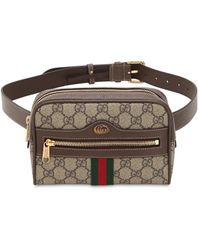 Gucci Brown Ophidia GG Supreme Small Belt Bag