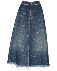 Balenciaga Юбка Из Органического Денима - Синий