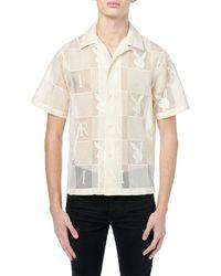 Amiri Playboy Chequered Cotton Lace Shirt - White
