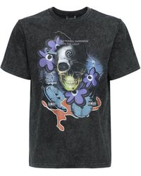 P.a.m. Perks And Mini Oversize Lucid Mind Print Cotton T-shirt - Black