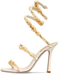 Rene Caovilla 105mm Embellished Satin Sandals - Multicolour