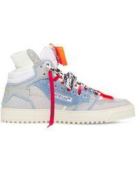 "Off-White c/o Virgil Abloh Hohe Ledersneakers ""3.0 Off Court"" - Mehrfarbig"