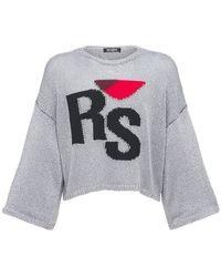 Raf Simons - Rs オーバーサイズキュプラブレンドセーター - Lyst