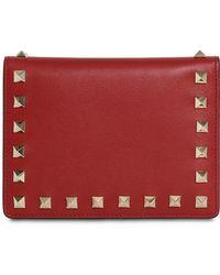 Valentino - Studded Leather Passport Holder - Lyst