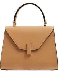 Valextra Mini Iside Grained Leather Bag - Brown