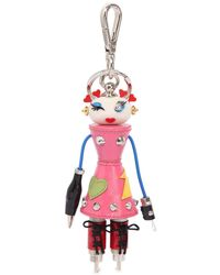 """Prada Charm de sac """"nana robot"""" - Rose"""