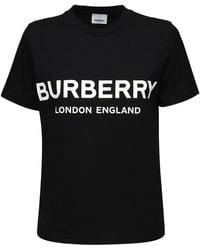 Burberry オーバーサイズコットンtシャツ - ブラック