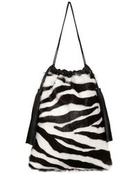 The Attico Zebra ポシェット - ブラック