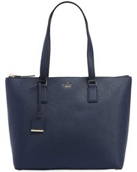 Kate Spade - Lucie Leather Saffiano Tote Bag - Lyst