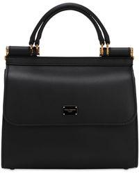 Dolce & Gabbana Sicily 58 スモール レザートップハンドルバッグ - ブラック