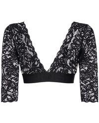 Versace Greek Lace クロップドトップ - ブラック