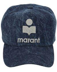 Isabel Marant Casquette En Denim De Coton Tyron - Bleu