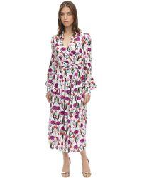 Borgo De Nor Платье Из Атласного Жаккарда - Многоцветный