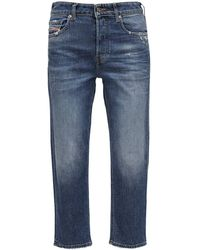 DIESEL D-aryel Straight Cropped Washed Jeans - Blue