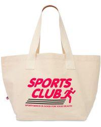 """Sporty & Rich Sac Cabas En Coton """"sportsclub"""" - Multicolore"""