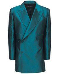 Dolce & Gabbana シャンタンジャケット - ブルー