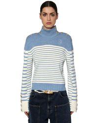 JW Anderson - Striped Wool Knit Sweater W/ Buttons - Lyst