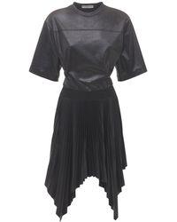 Givenchy ワックスドプリーツドレス - ブラック