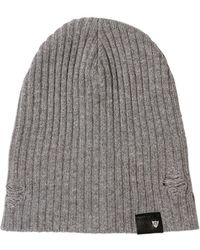 HTC Hollywood Trading Company - Distressed Wool Blend Beanie Hat - Lyst